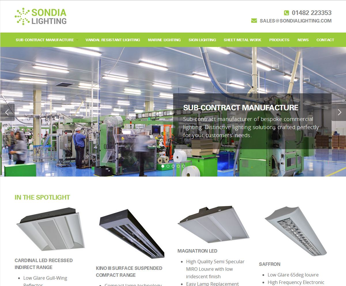 Sondia Lighting New Website